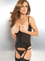 Buy Shadow Stripe Basque, see details about this Sexy Lingerie and more
