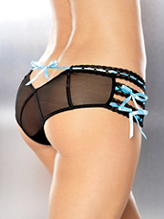Buy Beaded Ribbon Mesh Crotchless Panty, see details about this Sexy Lingerie and more