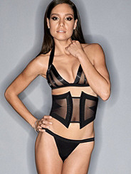 Mesh & Satin Illusion Bralette