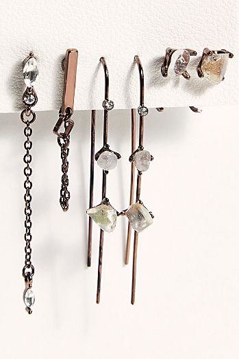 Raw Stone Earring Set