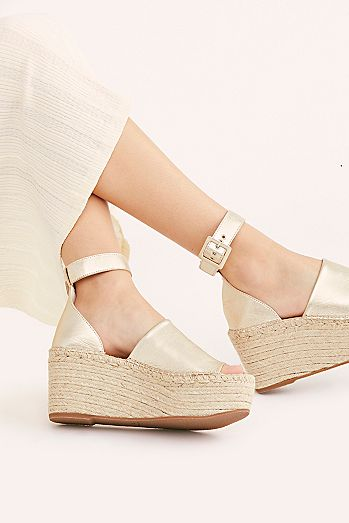 Coastal Platform Wedge Sandals