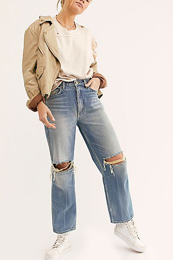 Lee High-Rise Stove Pipe Jeans