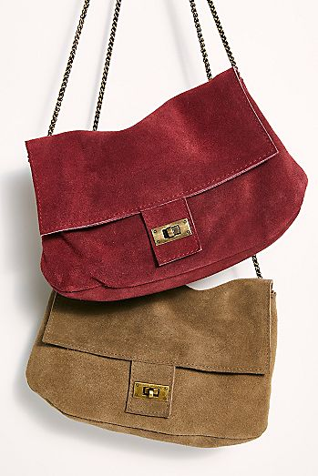 Slouchy Suede Shoulder Bag
