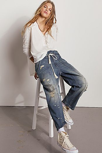 In My Time Denim Cargo Jeans