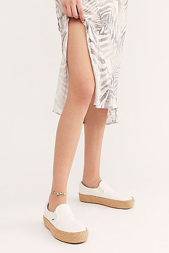 Slip-on Platform Espadrille Sneakers