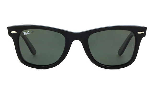 ray ban shiny black green