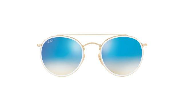 Ray-Ban Round Double Bridge RB3647N Sunglasses-Unisex gold