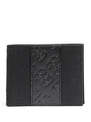 Love our denim? Then this black denim and logo-embossed billfold is exactly what you need. A removable ID case provides added storage for those extra necessities.