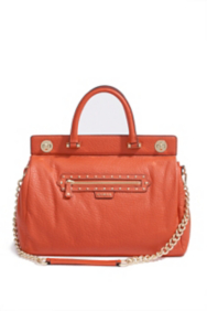 Large Textured Leather Satchel