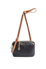 Color-Blocked Leather Cross-Body Bag
