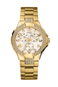 Multifunction Gold-Tone Bracelet Watch