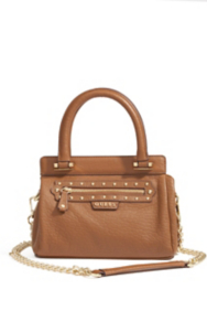 Textured-Leather Small Satchel