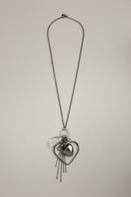 Open Heart Long Charm Necklace