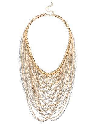 Ava Multi-Tone Layered Necklace