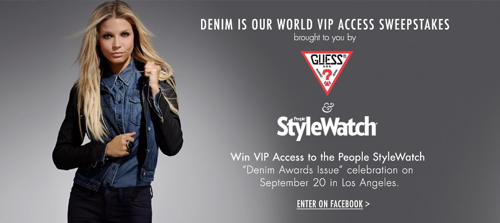 Denim is our world VIP access sweepstakes - enter on facebook