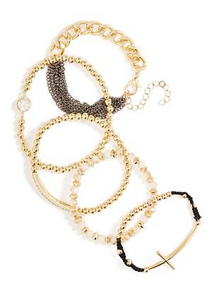 Gold-Tone Friendship Bracelet Set
