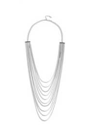 Silver-tone Long Necklace