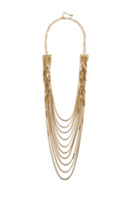 Gold-Tone Multi-Strand Chain Necklace