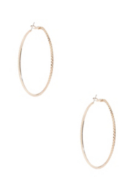Faceted Gold-Tone Hoop Earrings