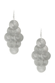 Silver-Tone Fish-Scale Earrings