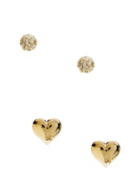 Gold-Tone Logo Stud Earring Set