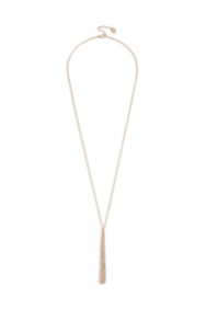 Gold-Tone Pavé Pendant Necklace