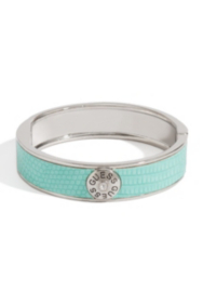 Mint Lizard-Embossed Bangle