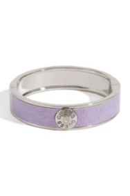 Purple Lizard-Embossed Bangle