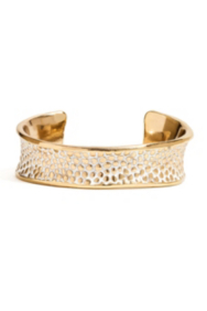 Stingray-Embossed Cuff Bracelet