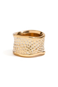 Gold-Tone Stingray-Texture Ring