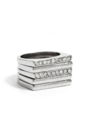 Five-Piece Silver-Tone Stacking Ring Set