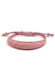 Pink Stingray-Texture Braided Bracelet
