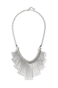 Silver-Tone Paddle Necklace