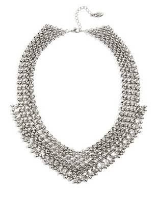 The search for the ultimate wear-everywhere accessory stops here. Modern chain links and a gleaming silver-tone finish lend this glamorous statement necklace trend-perfect appeal.