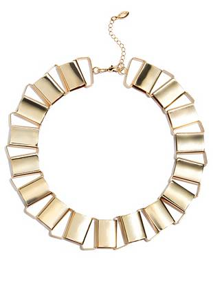 Uniquely glamorous, this statement necklace is the perfect everyday accent. The classic gold tone makes for easy pairing with anything in your closet.
