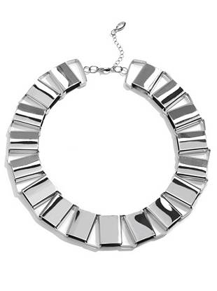 Uniquely glamorous, this statement necklace is the perfect everyday accent. The classic silver tone makes for easy pairing with anything in your closet.