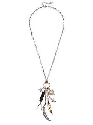 Perfect for when your look needs a little something extra, this long necklace delivers instant glamour to any outfit. The modern multi-tone design and mixed charms make a playful statement that won't go unnoticed.