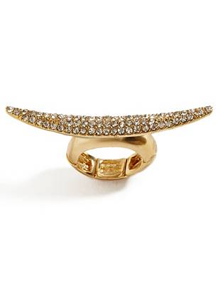Horn jewelry is one of summer's hottest trends, and this glittering ring is the perfect everyday piece. Wear it casually for daytime or dress it up after dark for instant outfit-transforming appeal.