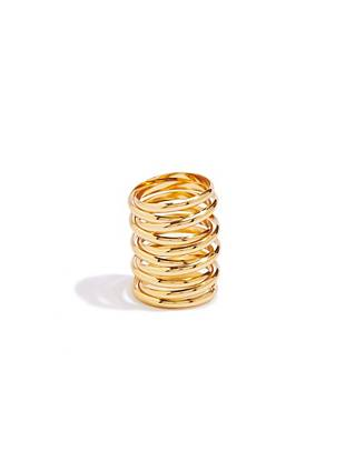 Nail the statement-ring trend with this high-shine coiled design.