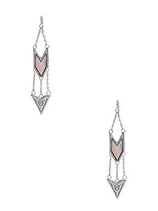 Vintage inspired yet completely of the moment, these arrow drop earrings are the perfect finish to your everyday looks. The pearlescent finish delivers feminine glamour to the western-inspired style.
