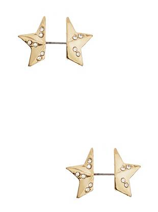 A star-studded take on the trend of the moment, these sparkling front-to-back earrings add instant glamour to your everyday looks.