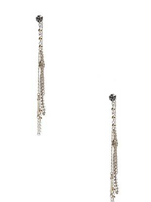 Irresistibly glamorous and completely modern, these hematite-tone drop earrings are your new night-out favorite. Wear them with a sleek ponytail to show off the luxe layers and glittering rhinestones.