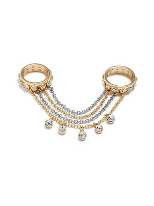 Daniella Gold-Tone Two-Finger Ring