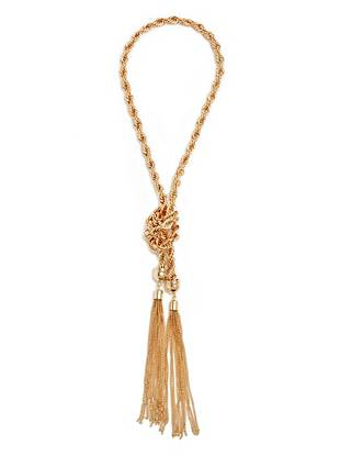 Reese Gold-Tone Knot Necklace