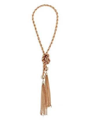 Reese Rose Gold-Tone Knot Necklace
