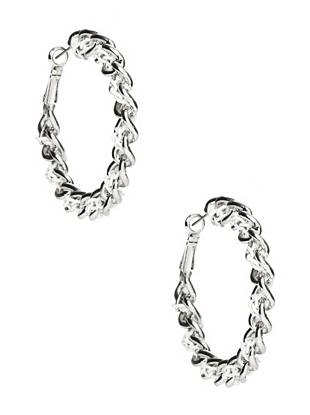 Gia Braided Hoop Earrings