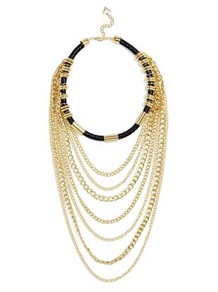 Selina Black and Gold-Tone Layered Necklace