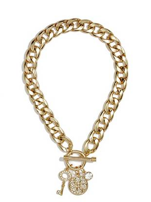 Melina Gold-Tone Quattro G Necklace
