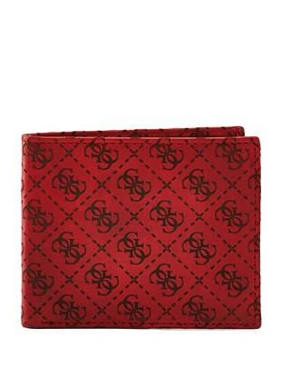 Red genuine leather and our iconic 4-G logo print make this billfold the perfect on-the-go companion.