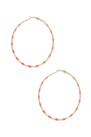 Coral-Colored Hoop Earrings